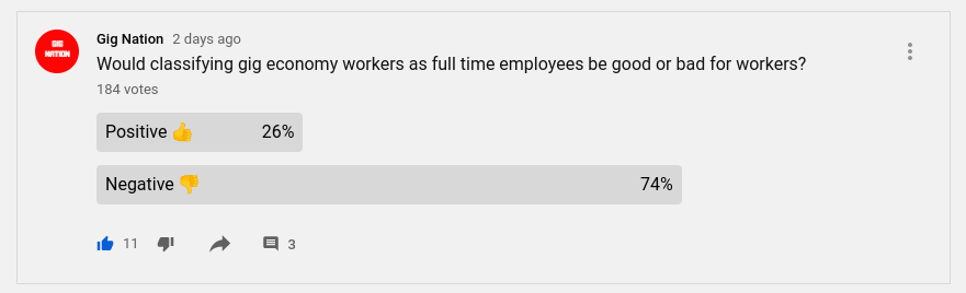 Uber Might Leave California. Gig Workers See Full Time Employment as Negative. 1